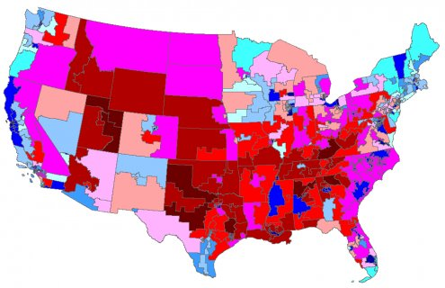 Map of Congressional Districts
