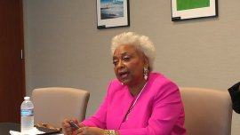 Broward Supervisor of Elections Brenda Snipes visits the Sun Sentinel editorial board on Aug. 13, 2014. (Photo by Anthony Man)