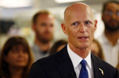 Florida Gov. Rick Scott speaks at NeoGenomics Laboratories, a cancer research company, in Fort Myers on Monday, May 11, 2015. [Associated Press]