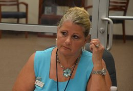 Supervisor of Elections Kimberle Weeks has resigned after six years and innumerable controversies. (© FlaglerLive)