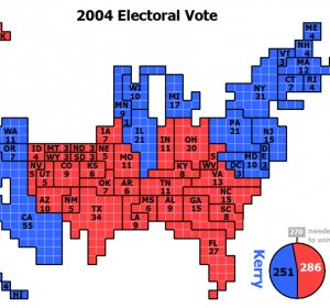 Electoral votes to win presidency