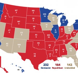Interactive presidential election Map