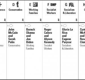 New York City ballot