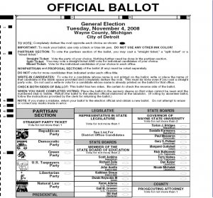 Sample Voting ballot templates