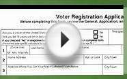 Filling Out a Voter Registration Form