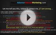 Google Adsense Account | How To avoid being cheated online?