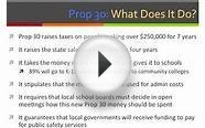 Proposition 30: Taxes To Fund Education (California